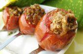 Gevulde tomaten in magnetron