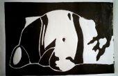Zwart-wit Linoleum Print