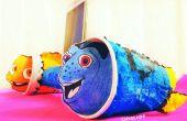 DORY & Nemo TELEFOONHOUDER en LUIDSPREKERVERSTERKER vinden van papier handdoek rollen