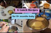 6 lunch recepten voor 8 + maanden Baby | Stadium 3 - recepten voor zelfgemaakte Baby