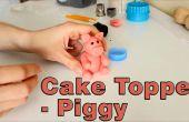 Hoe maak je een suiker plakken Fondant Pig taart Topper
