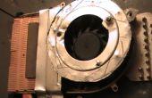 Repareren van een oververhitting laptop door het veranderen van de bestaande fan aan 12V BLDC fan en verbetering van de luchtstroom