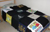 Hoe maak je een quilt uit oude T-shirts