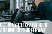 Reparatie van een kapotte Carbonfiber Bikeframe
