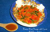 Passievruchten azijn (vanaf nul) met wortel paprika salade