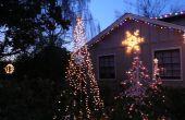 Buiten String-van-Lights boom voor de vakantie.