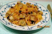 Vegan glutenvrij seizoenssla met zwarte radijs & tofu!