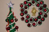 Kerst decoraties met behulp van koffie Cups