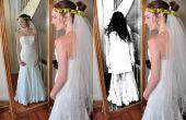 Griezelig meisje in spiegeleffect in Photoshop