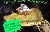 Acryl Terrarium Makeover met UV Faux paddestoel Platforms