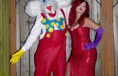 Jessica en Roger Rabbit handgemaakt kostuum