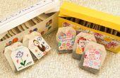 DIY met kinderen voor Moederdag. Thee doos van de gift en thee Tags.