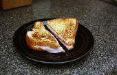 Klassieke warme Ham en kaas met een knoflook Italiaanse Twist