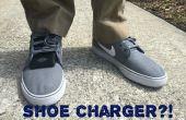 Piëzo-elektrische schoenen: Laad uw mobiele apparaat door te lopen!