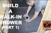 How to Build een Walk-In douche (Part 1: Wedi douche Pan)