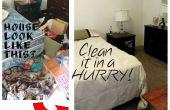 Reinigen van een rommelig huis (In een haast!)