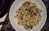 Heerlijke paddestoel Orzo Pasta recept