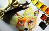 Hoe te schilderen van een vos in aquarel