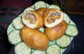 Paddestoelen & tonijn gebakken brood
