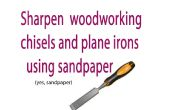 Hoe te verscherpen uw houtbewerking tools met schuurpapier