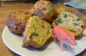 Spek, kaas en ei-Muffins