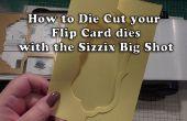 Procedure: Sterven knippen uw Flip kaarten met behulp van de Big Shot