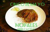 Cinco De Mayo gebakken Cactus (Nopales)