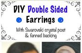 DIY Double Sided oorbellen met Swarovski Crystal Post & woeien steun