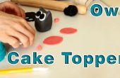 Hoe te maken suiker plakken Fondant Owl taart Topper
