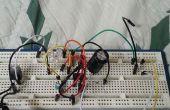 LM386 gebaseerd versterker met geluid gevoelige LEDs