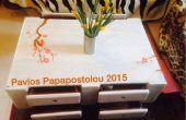 Palet salontafel met lades
