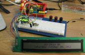 Rijden met een HD44780 weergeven met behulp van een verschuiving te registreren en een Raspberry Pi
