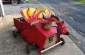 Middeleeuwse Dragon Soapbox Derby Car