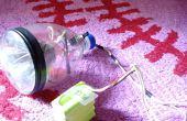 Hoe Maak LED koplamp voor fiets met behulp van een fles.