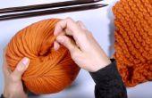 Hoe te breien een sjaal - perfecte beginner project