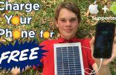 Opladen van uw telefoon kostenloos met de lader van de telefoon van de zonnepaneel