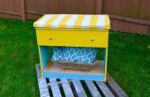 Herstellen van DIY makeover: DIY een oude dressoir in mooi opslag bank