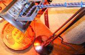 Felle Anglepoise Rgb + Strobe bureaulamp glanzende zilveren toekomstige Retro Punk partij