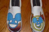 Hand geschilderd Deadmau5 schoenen (Mens grootte 12)