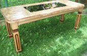 DIY tabel van het hout segment gesneden