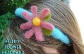 Vilten bloem hoofdband Tutorial