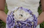 Stof huwelijk/Bridal bloemboeket