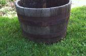 Het opknappen van een oud Barrel Planter