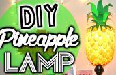 DIY ananas Lamp gemaakt van Plastic lepels