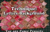 Hoe maak je een rooster achtergrond voor uw papier knutselen