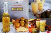 3 verfrissende Kiwi Mocktails / Sherbets met zelfgemaakte Kiwi siroop