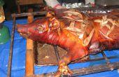 Hoe een hele varken gebraden