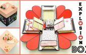 Hoe maak je een vak uitlichting - DIY papier ambachten - Exploding huwelijksgeschenk