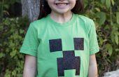 Stencil een Minecraft klimplant T-shirt