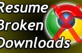 Hoe gebroken, onderbroken of time-out downloads hervatten